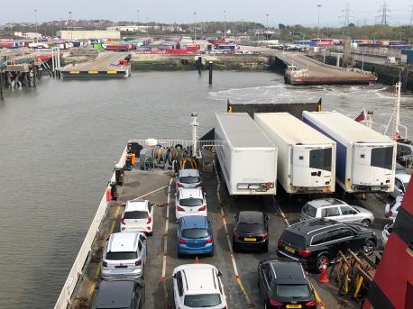 Leaving Heysham by Ferry