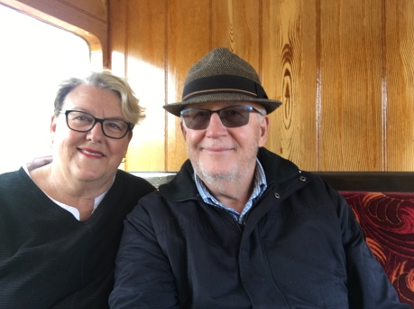 Patricia and Kenneth on the Steam train