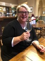 Patricia celebrating a birthday