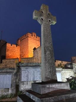 Rushen castle at night