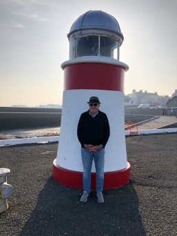 Smallest Lighthouse or tallest man